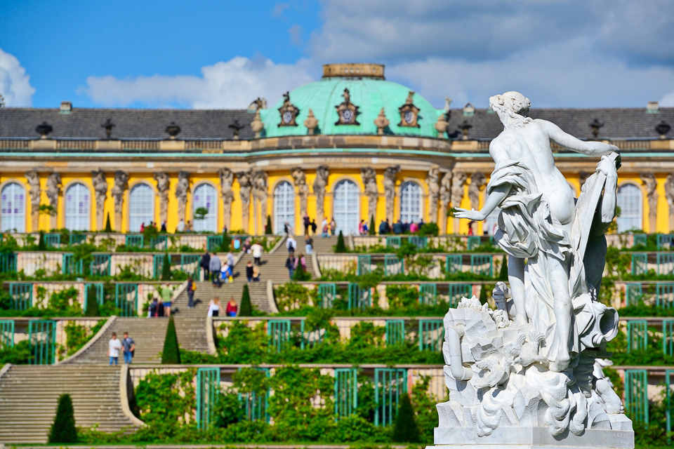 เที่ยวพระราชวังซองซูซี Sanssouci Palace, Potsdam เยอรมนี