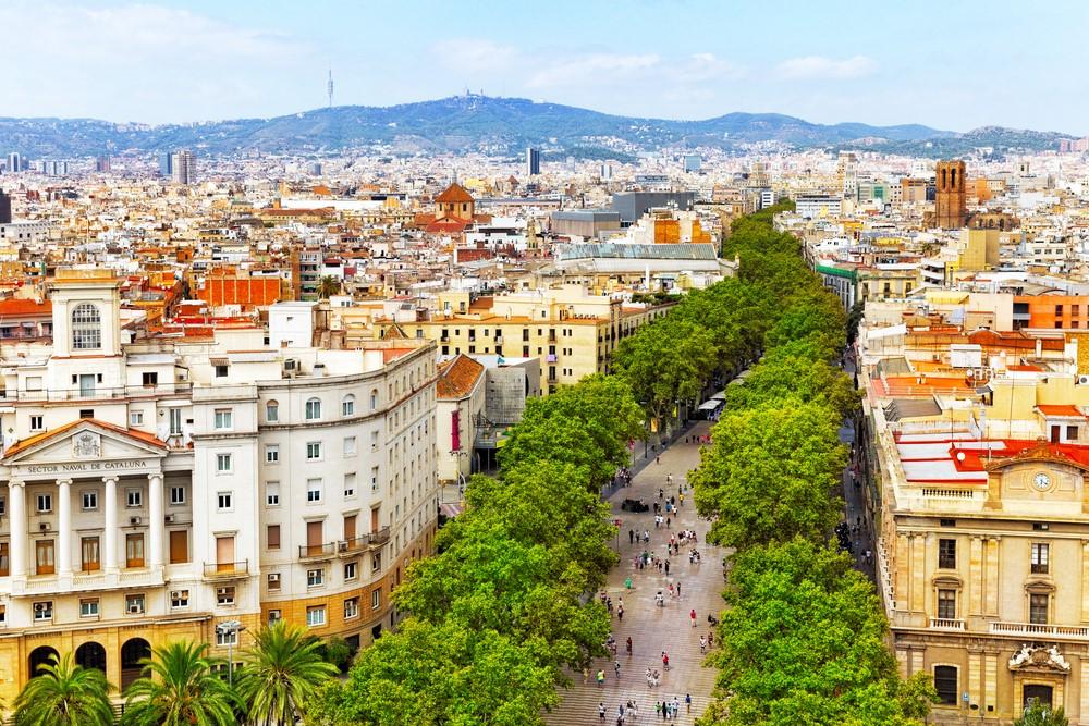 เที่ยวถนนคนเดิน ลารัมบลาส La Ramblas, Barcelona สเปน